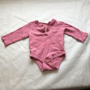 JOE FRESH thermal long sleeve onesie with raw cuff